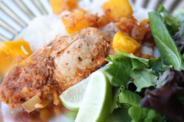 3 Ingredient mango salsa chicken - Ask Anna