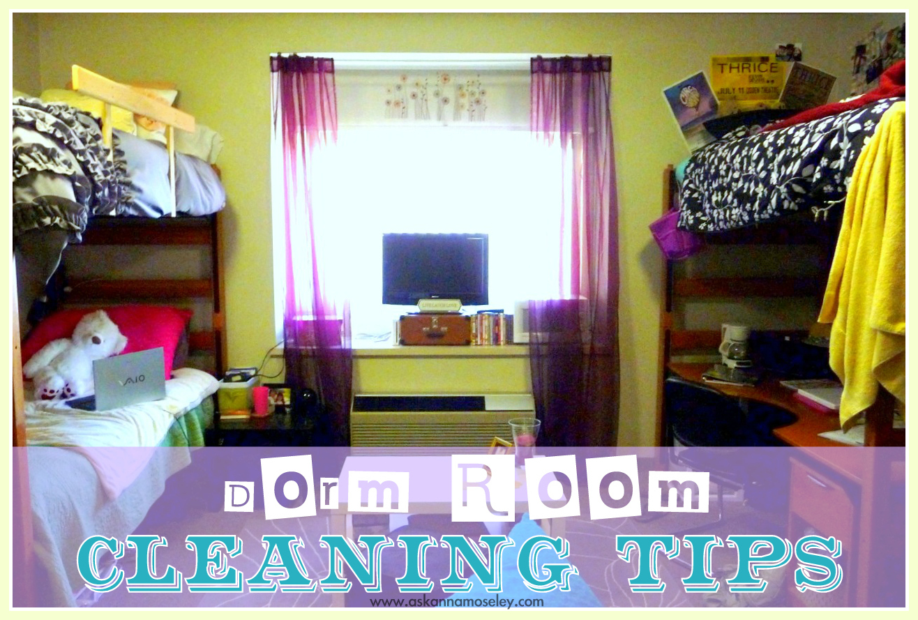 How to clean a dorm room - Ask Anna