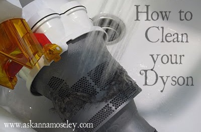 Ever wonder how to clean a Dyson? This 7-step tutorial, with pictures, shows you how to thoroughly clean one, including filters, traps, the brush & more | Ask Anna