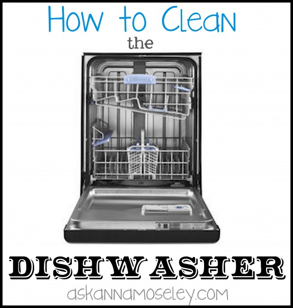 Cleaning a dishwasher