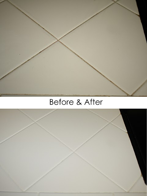 This is a great tip and the best way to clean grout lines (even the dirtiest ones!) in just minutes | Ask Anna