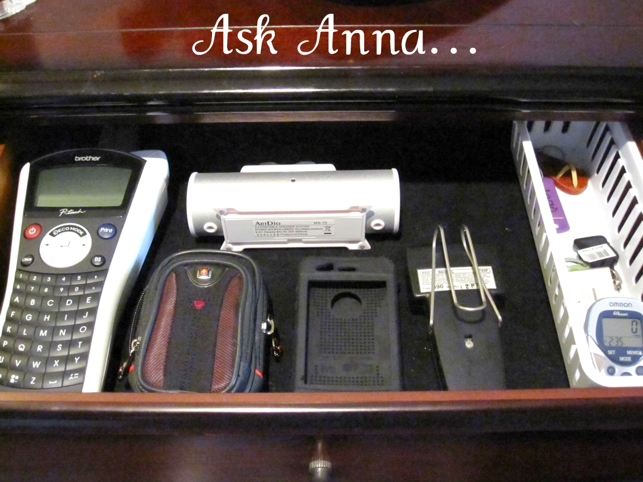 How to organize cords - Ask Anna