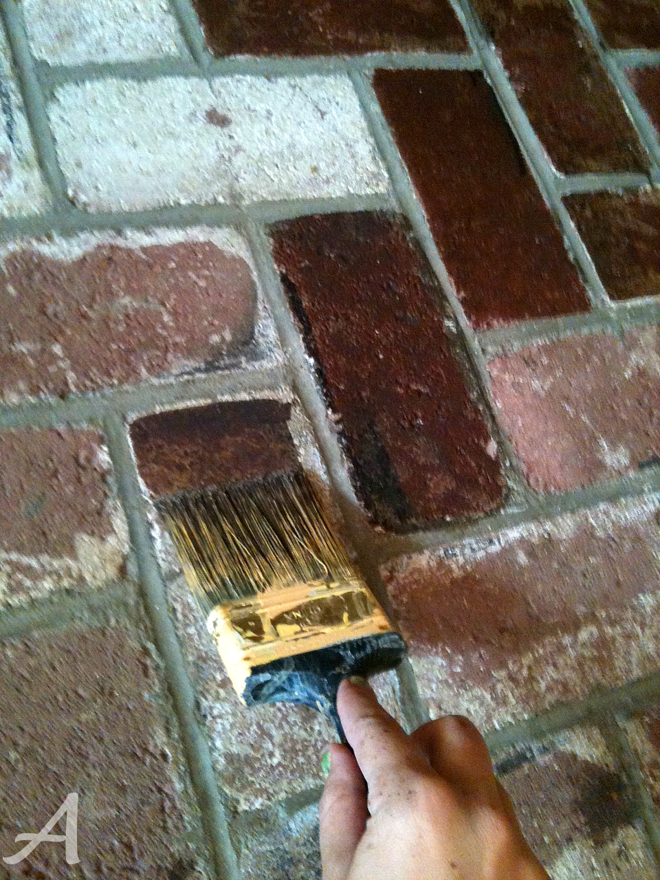 How to update a brick fireplace - Ask Anna