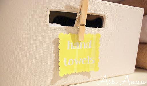 Organizing the linen closet - Ask Anna