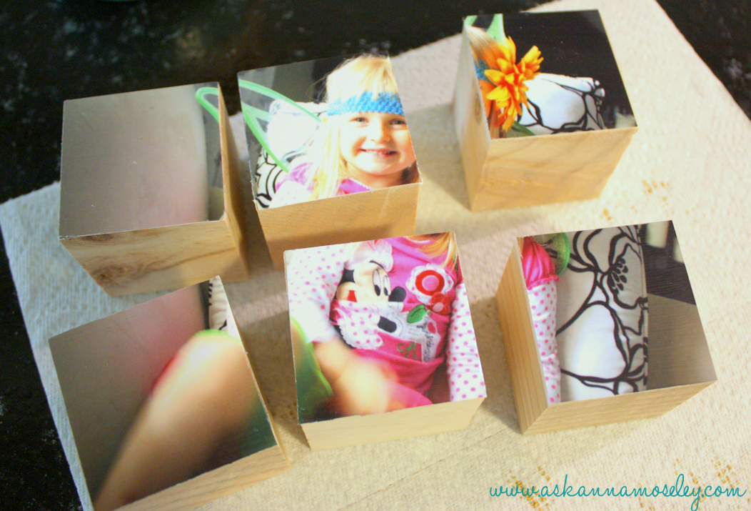 DIY picture blocks, these are fun to make and even more fun to play with once you're finished! They would make a great gift any time of year.