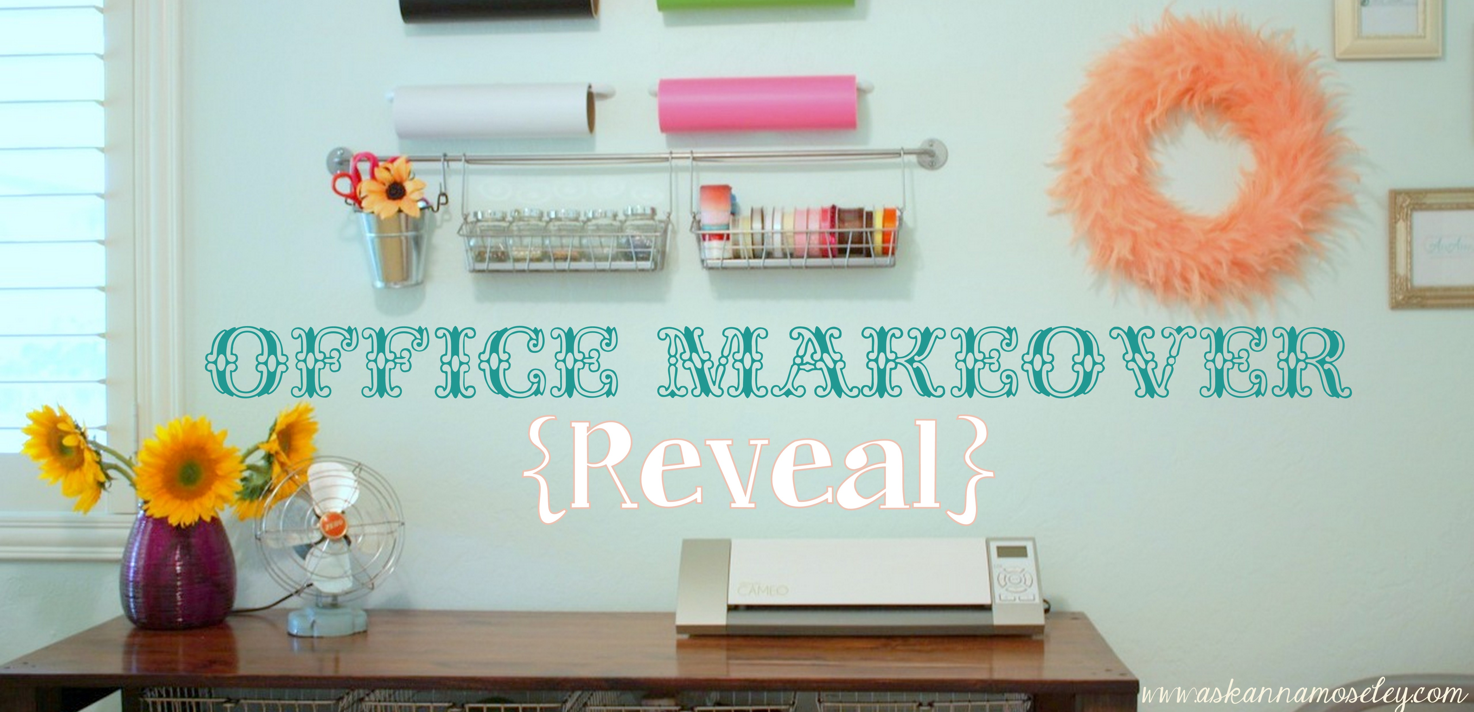 Office makeover reveal using Chip It!