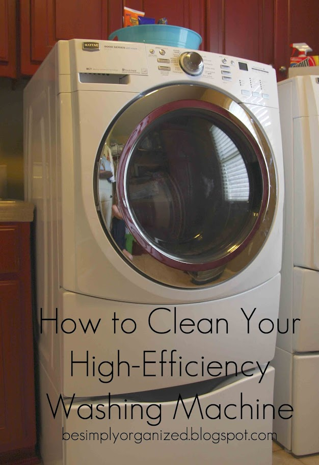 How to clean a high efficiency washing machine