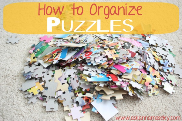 How to organize kids puzzles - Ask Anna
