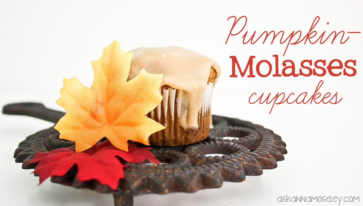 These pumpkin molasses cupcakes with a caramel glaze are sure to be a hit this Fall! They are the perfect combination of Fall flavors and sweet goodness.   Ask Anna