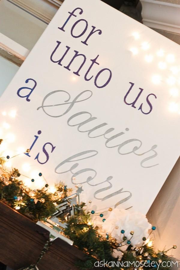 Light Up Christmas Canvas - Ask Anna