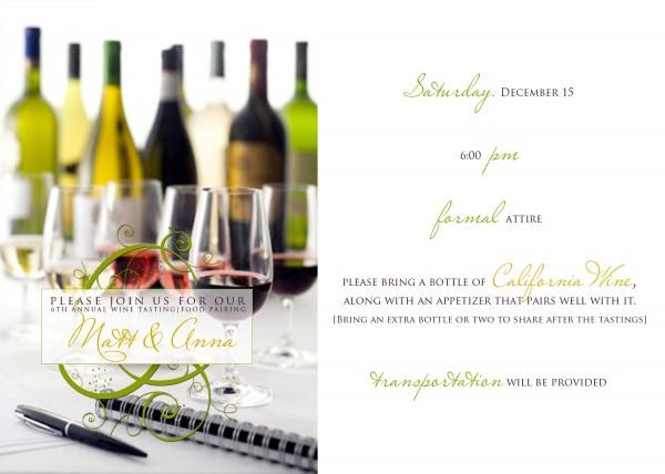 Wine party invitation | Ask Anna