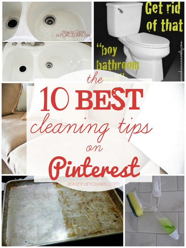cleaning tips on pinterest