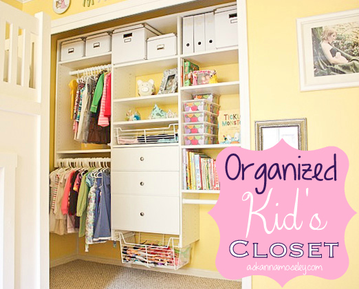 Organized kids closet with EasyClosets -- Ask Anna (1)