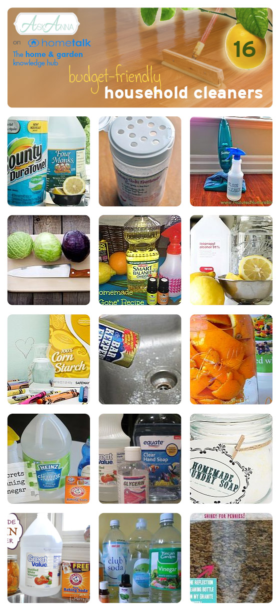 Budget-friendly home made cleaners - Ask Anna