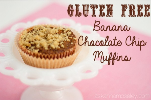 Gluten free banana chocolate chip muffins - Ask Anna