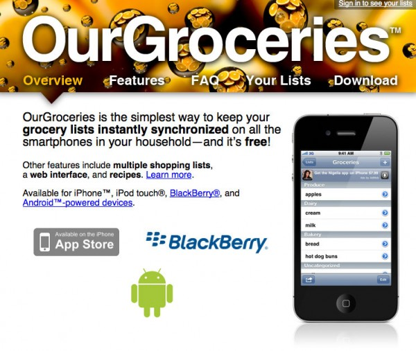 Our groceries app