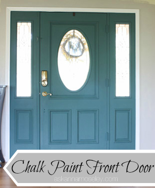 Chalk paint front door - Ask Anna