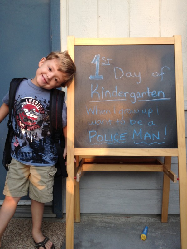 """First day of school, """"when I grow up"""" picture - Ask Anna"""