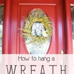 How to hang a wreath on a glass door- Ask Anna