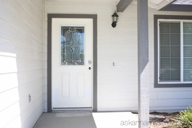 Front door makeover (before) - Ask Anna