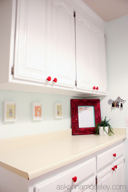 Red, White and Teal Laundry Room Makeover - Ask Anna