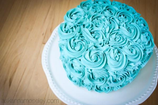 Rosette cake - Ask Anna