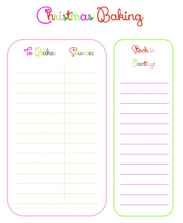 Get this FREE Baking checklist printable and 3 other printables to organize your Christmas season this year   Ask Anna