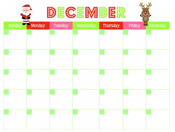 Get this FREE December calendar printable and 3 other printables to organize your Christmas season this year   Ask Anna