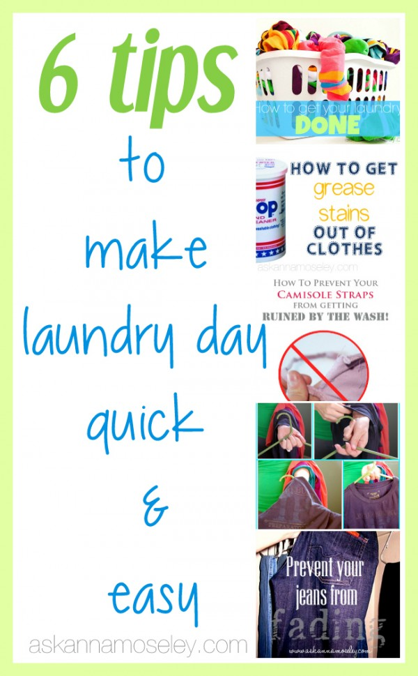 Laundry tips for making laundry day easier - Ask Anna