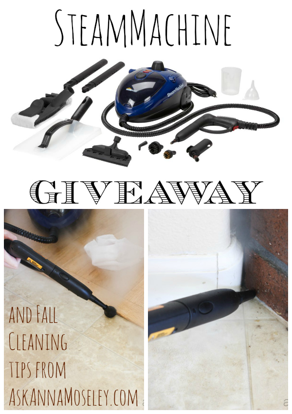 SteamMachine giveaway and Fall cleaning tips - Ask Anna