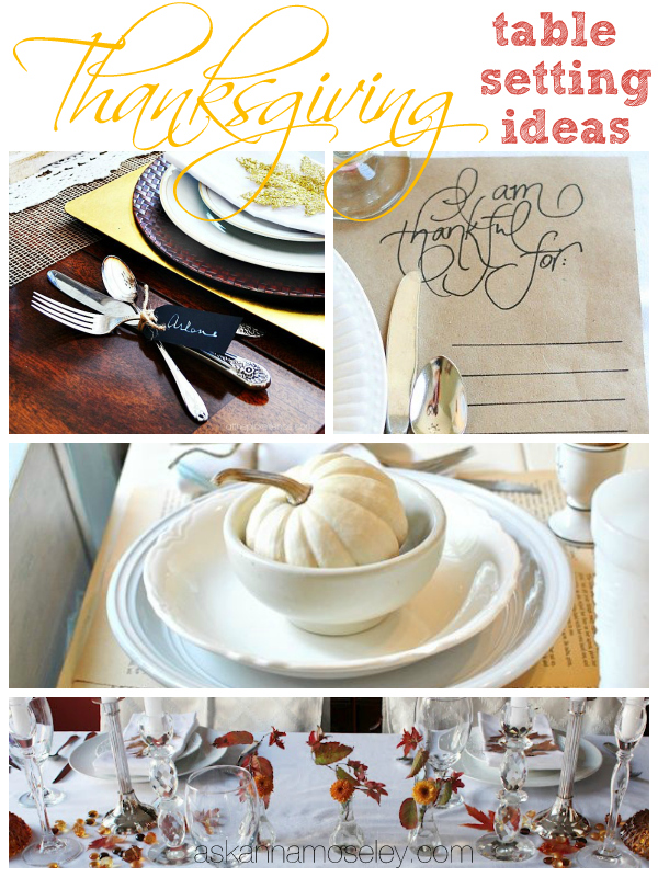 Thankgiving table setting ideas - Ask Anna
