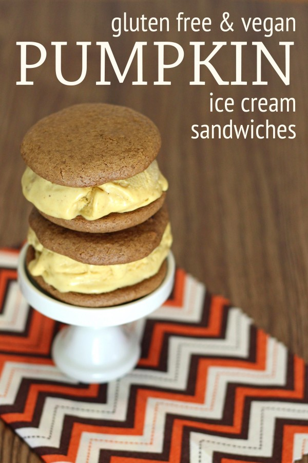 Gluten Free & Vegan Pumpkin Ice Cream Sandwiches - Ask Anna
