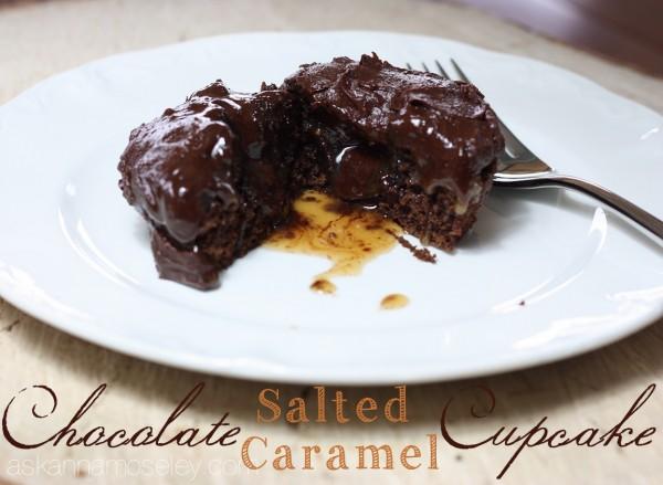 Chocolate salted caramel cupcake - Ask Anna