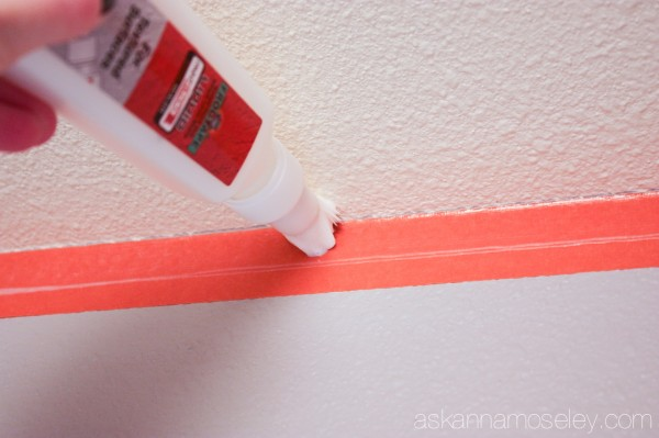 How to paint perfect lines on textured walls - Ask Anna
