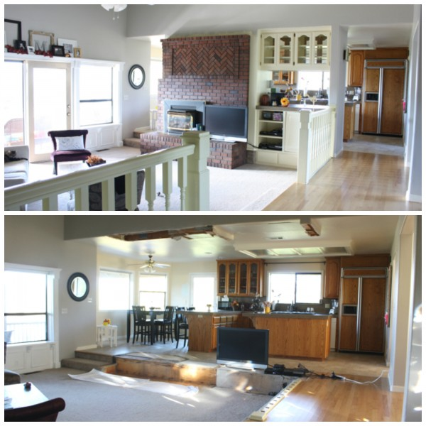 Kitchen demo before and after - Ask Anna