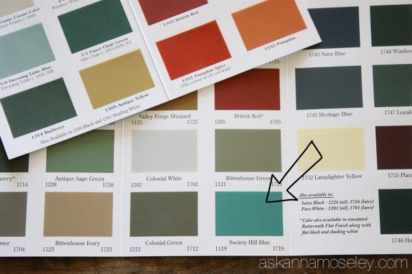Old Village Paint colors - Ask Anna