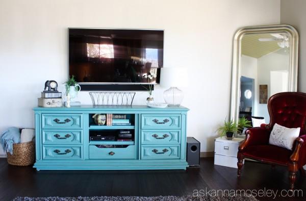 DIY dresser to TV console - Ask Anna