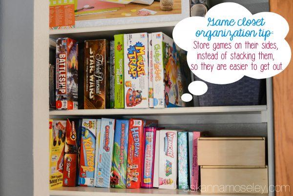 Game closet organization tips - Ask Anna