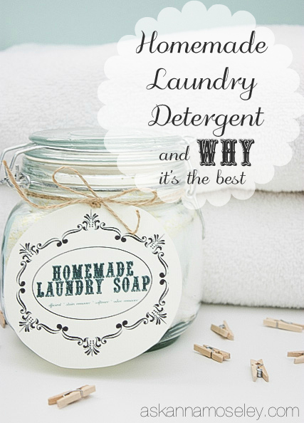 Homemade laundry detergent - Ask Anna