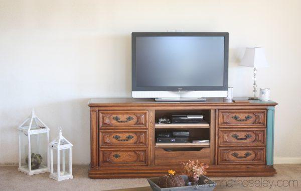 DIY TV console - Ask Anna