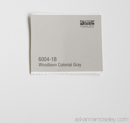 Woodlawn Colonial Gray paint color - Ask Anna
