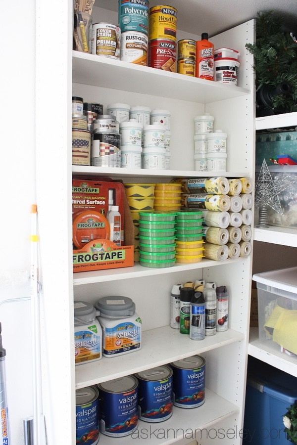 Organizing paint cans with Dipsy Dabber -  Ask Anna