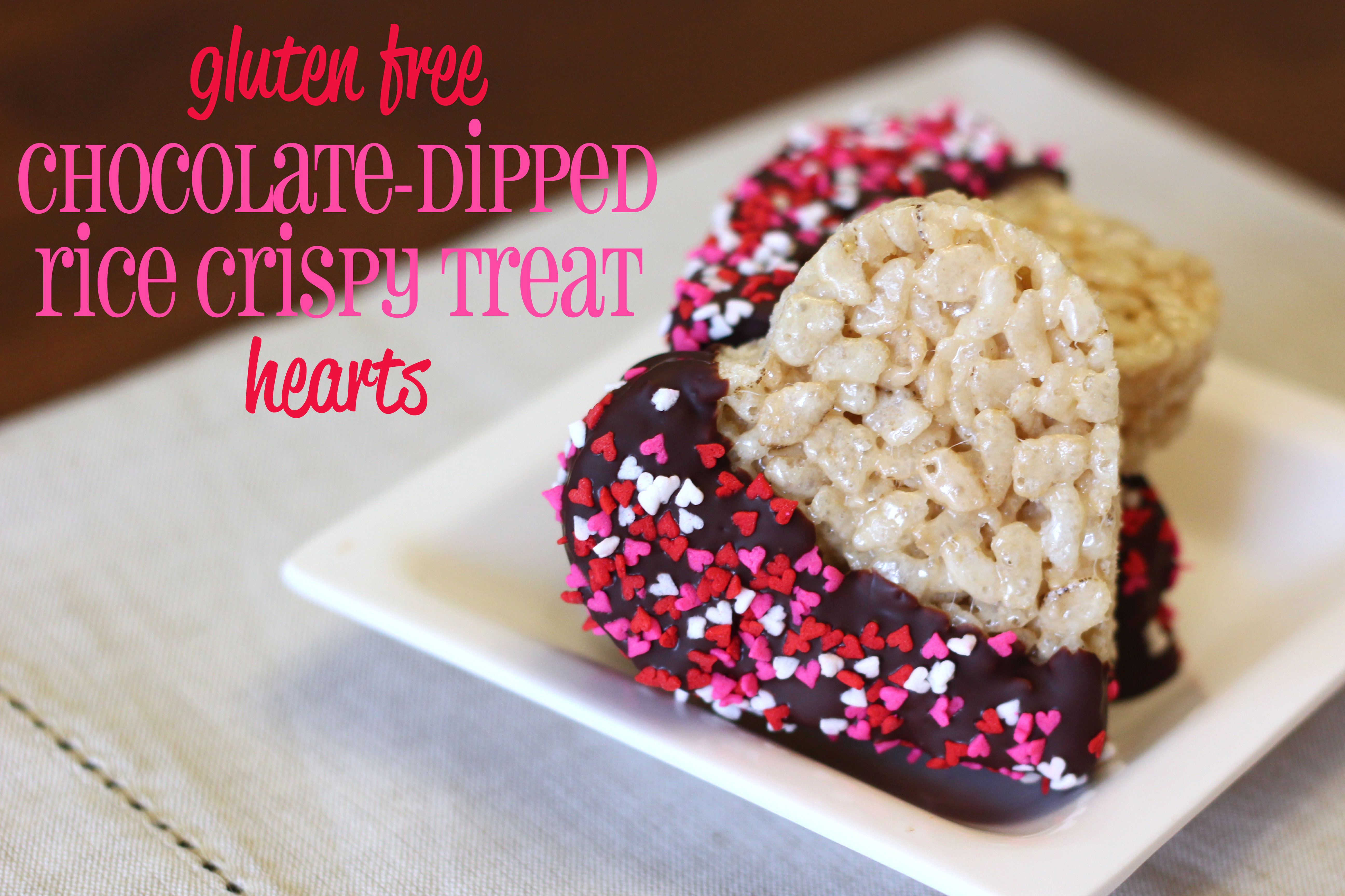 Chocolate-Dipped Rice Crispy Treat Hearts - Ask Anna