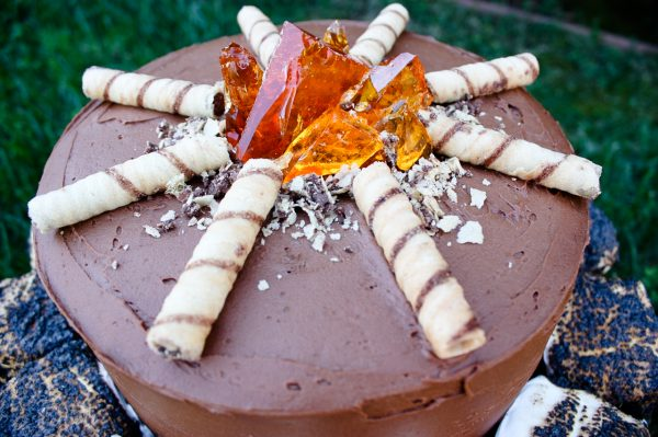 Campfire cake - Ask Anna