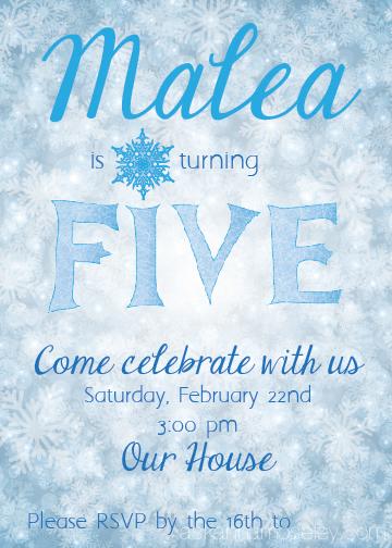 Frozen party invitation idea - Ask Anna