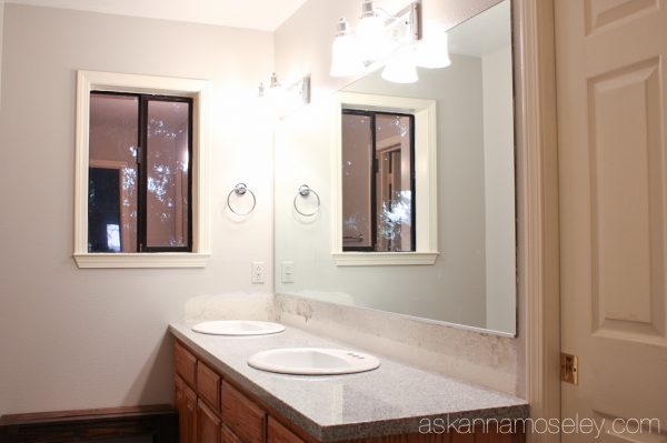 Guest bathroom makeover, before - Ask Anna