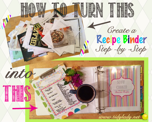 How to make a recipe binder - Ask Anna