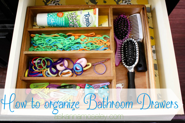 How to organize bathroom drawers - Ask Anna