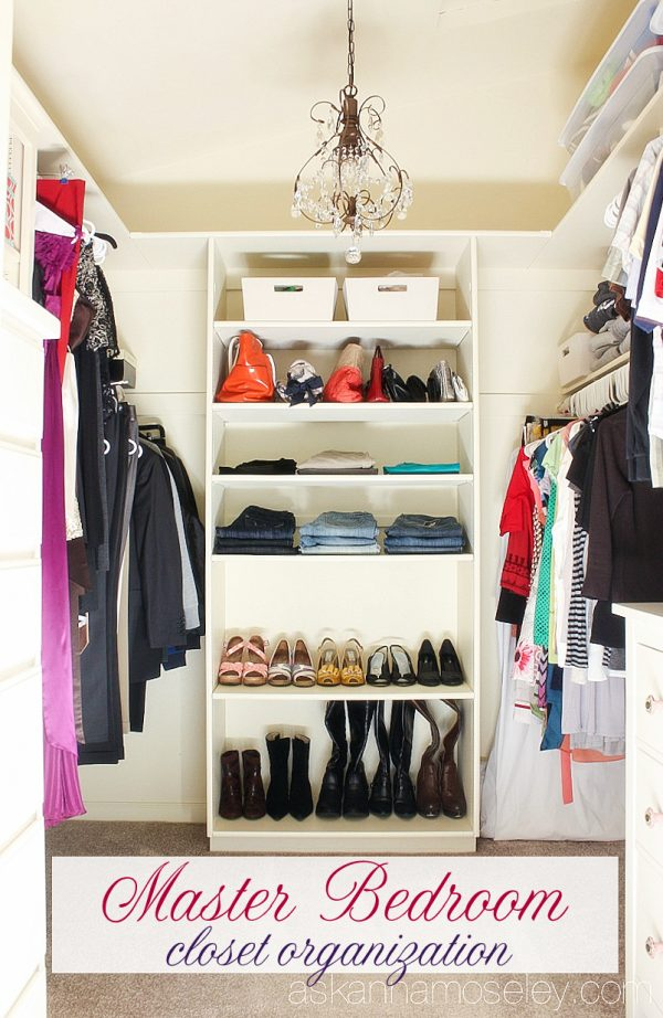 Master bedroom closet organization - Ask Anna