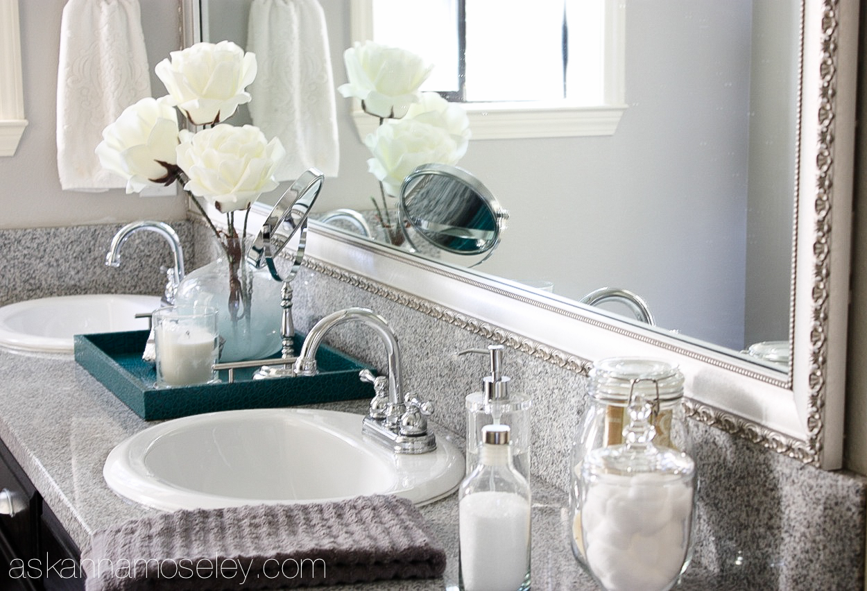 Bathroom mirror makeover with MirrorMate- Ask Anna